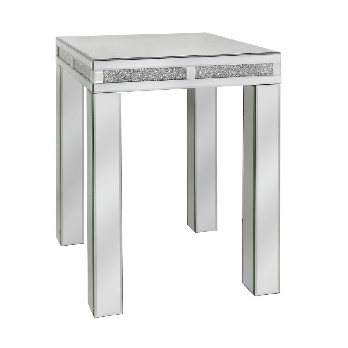 tuscany mirrored side table