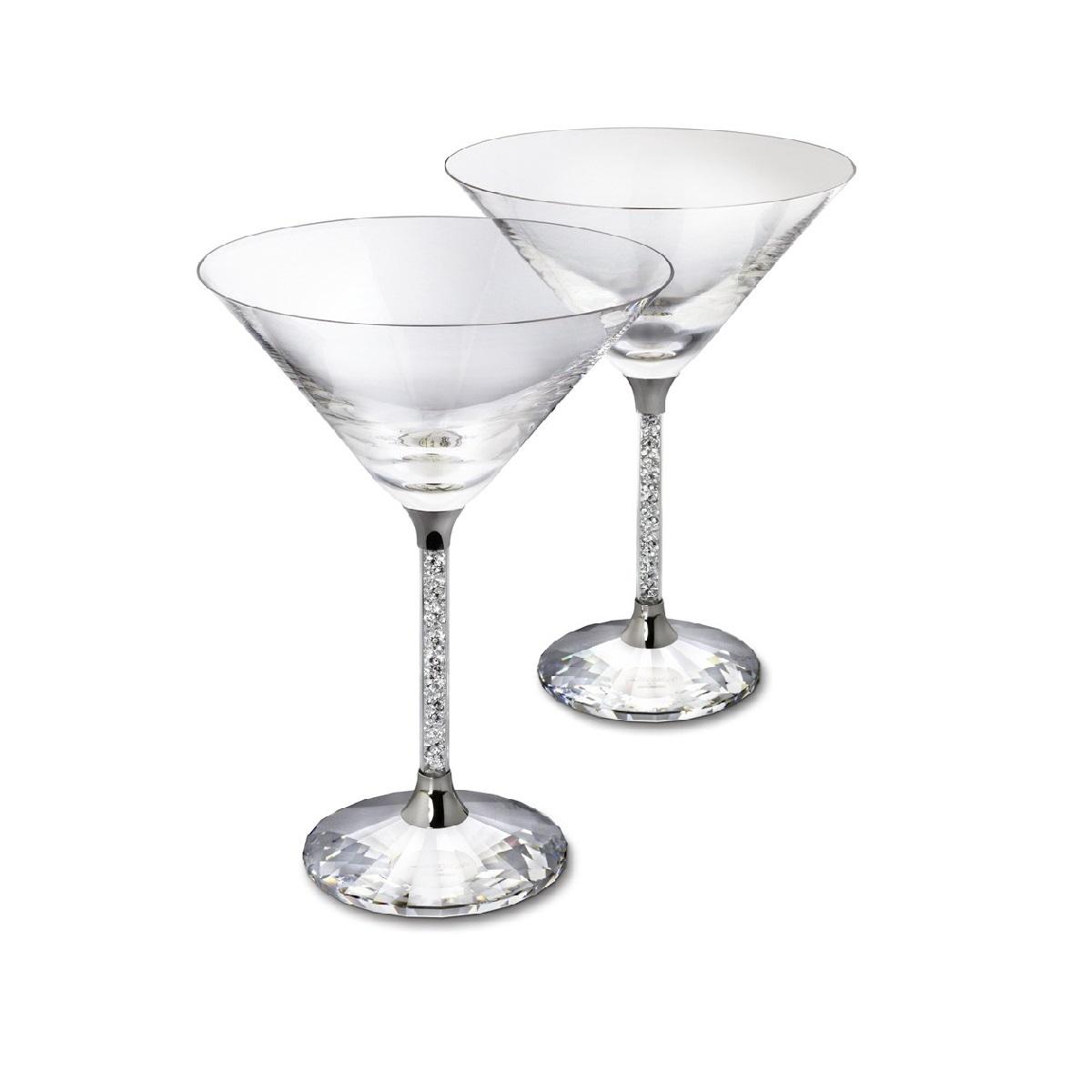 b475d0ceeb8 Pair of Swarovski Crystal Filled Stem Cocktail Glasses - Diamond Affair