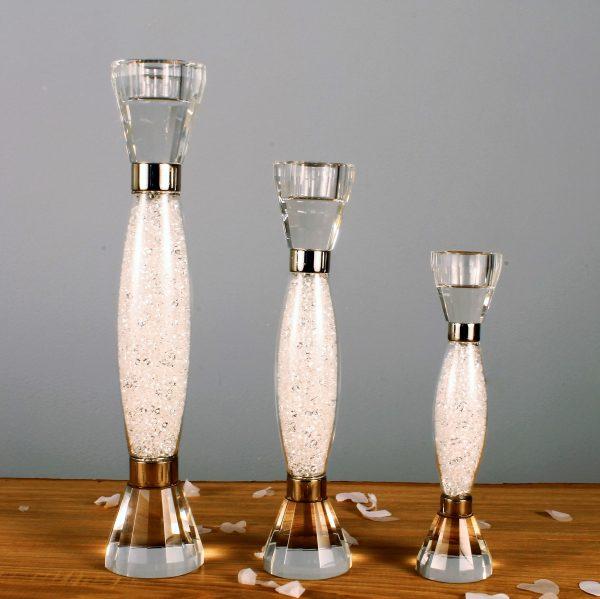 Swarovski Crystal Filled Stem Candle Stick Holder