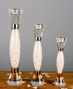 Swarovski Crystal Filled Stem Candle Stick Holder