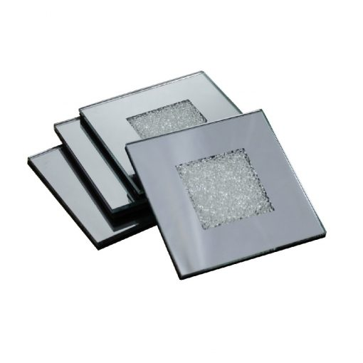 Swarovski Crystal Filled Mirrored Coasters Set of 4