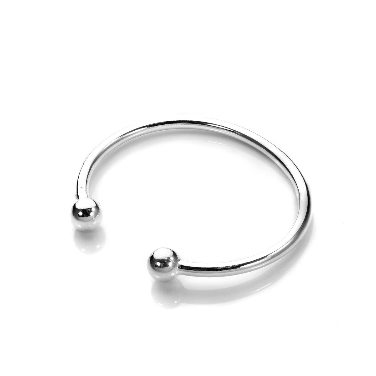 Sterling Silver 925 Baby Christening Torque Bracelet