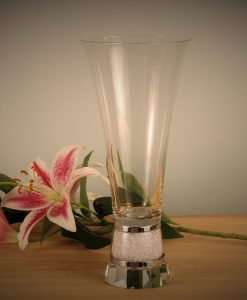 Large Vase with Swarovski Crystals