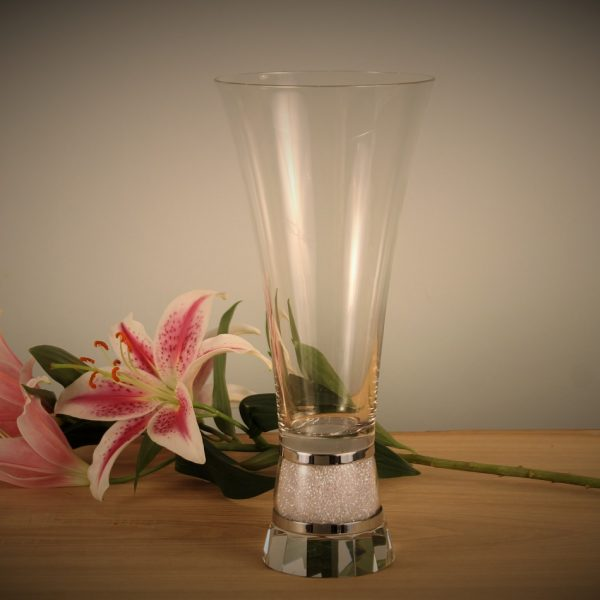 Large Vase with Swarovski Crystals