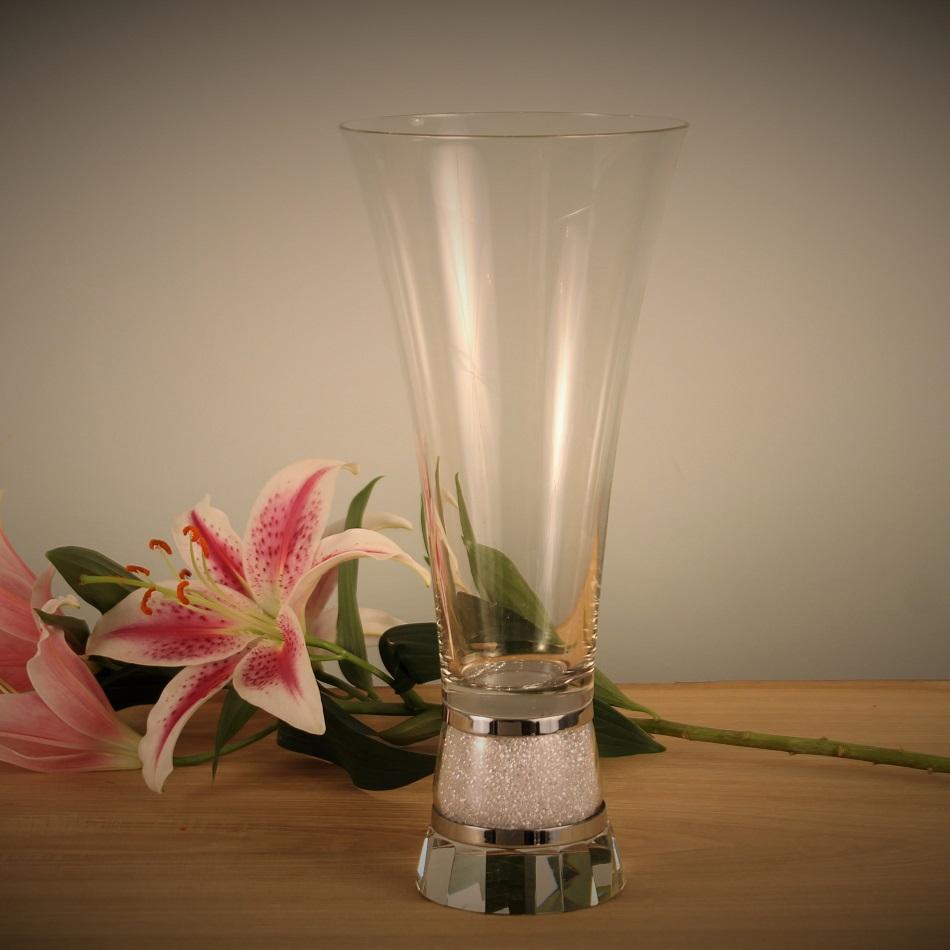 4de5ad2c1d7 Large Vase with Swarovski Crystals Crystalline Diamond Affair