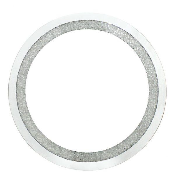 Round Wall Mirror Filled With Swarovski Crystals