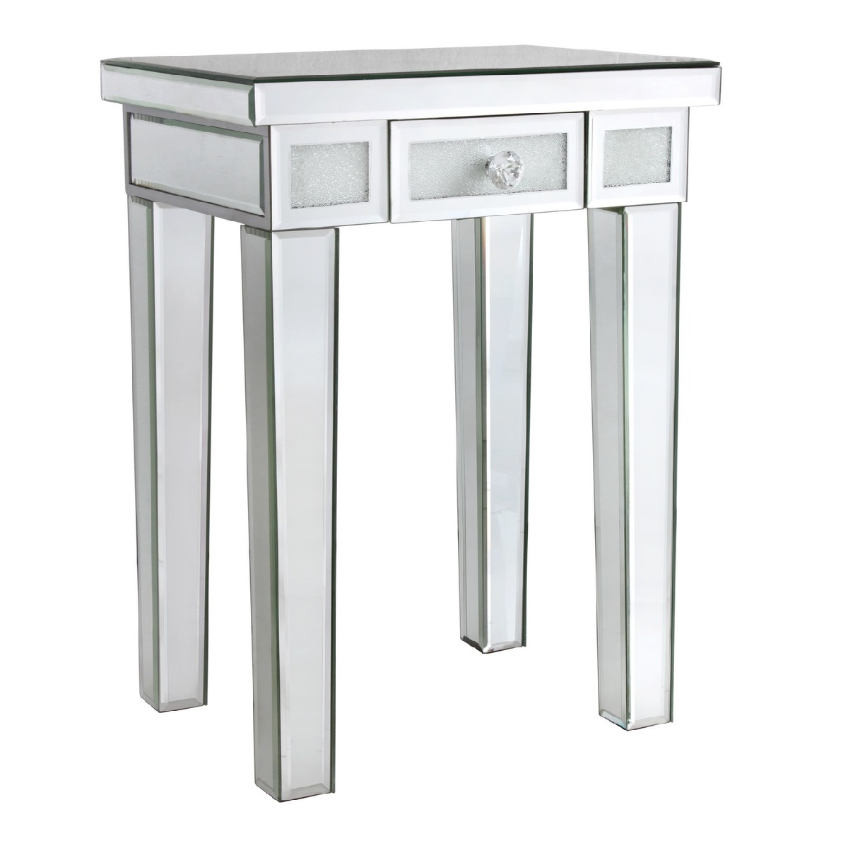mirrored side table. Pedestal Table Mirrored Side T