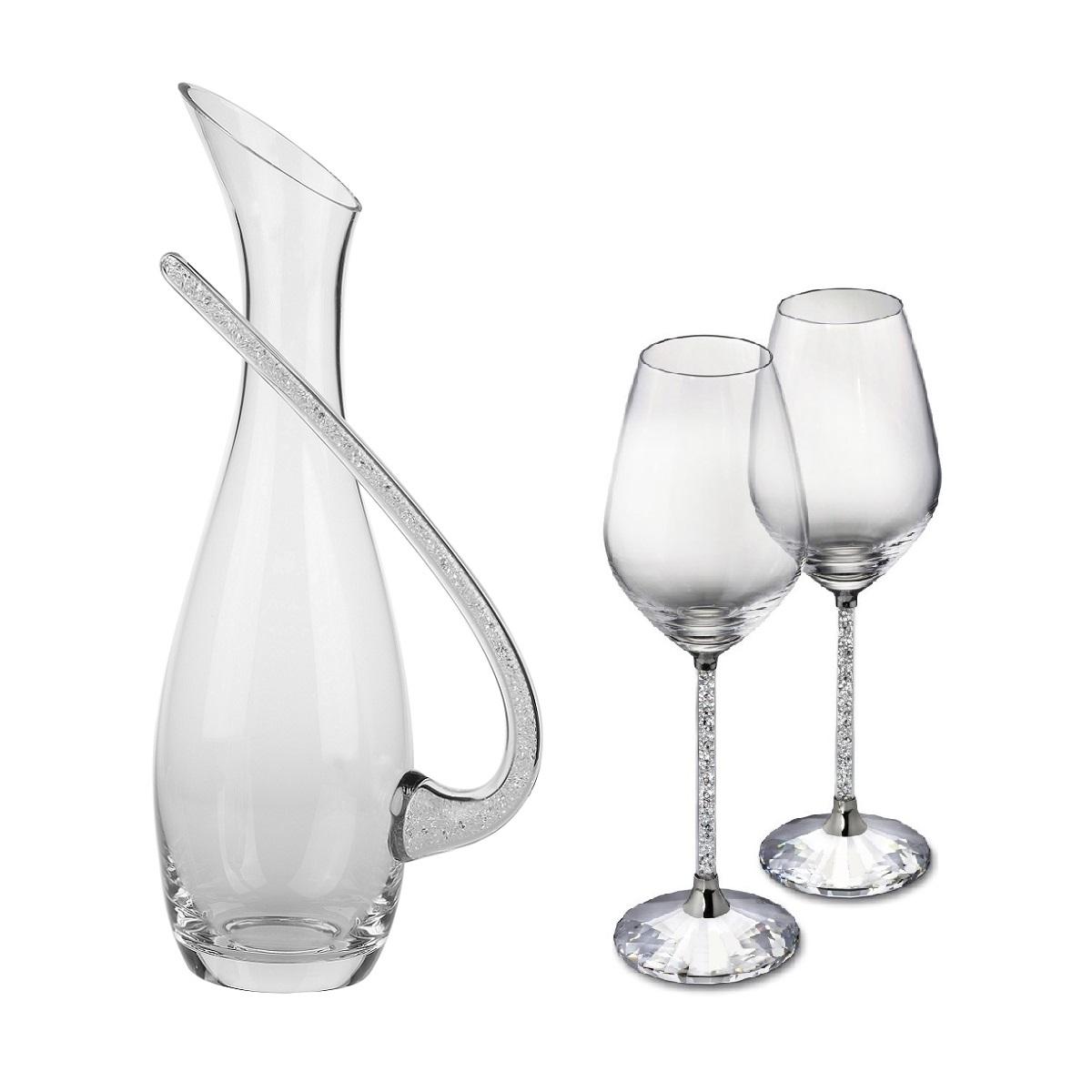 Swarovski crystal wine glasses and decanter wine packaging swarovki crystal decanter jug floridaeventfo Gallery