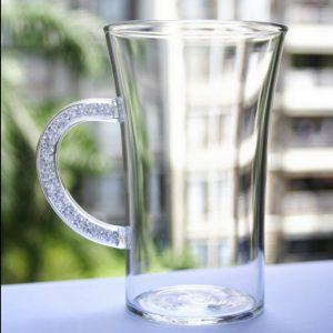 Coffee Mugs with Swarovski Crystal Filled Handle