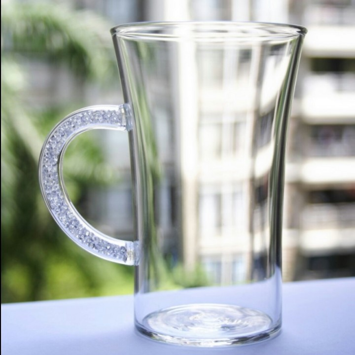 Coffee Mugs with Swarovski Crystal Filled Handle