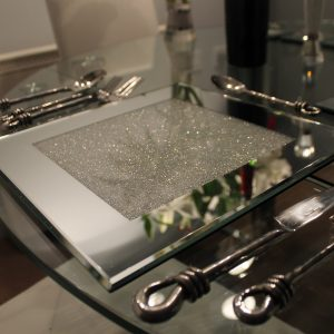 Swarovski Crystal Filled Mirrored Placemat Set
