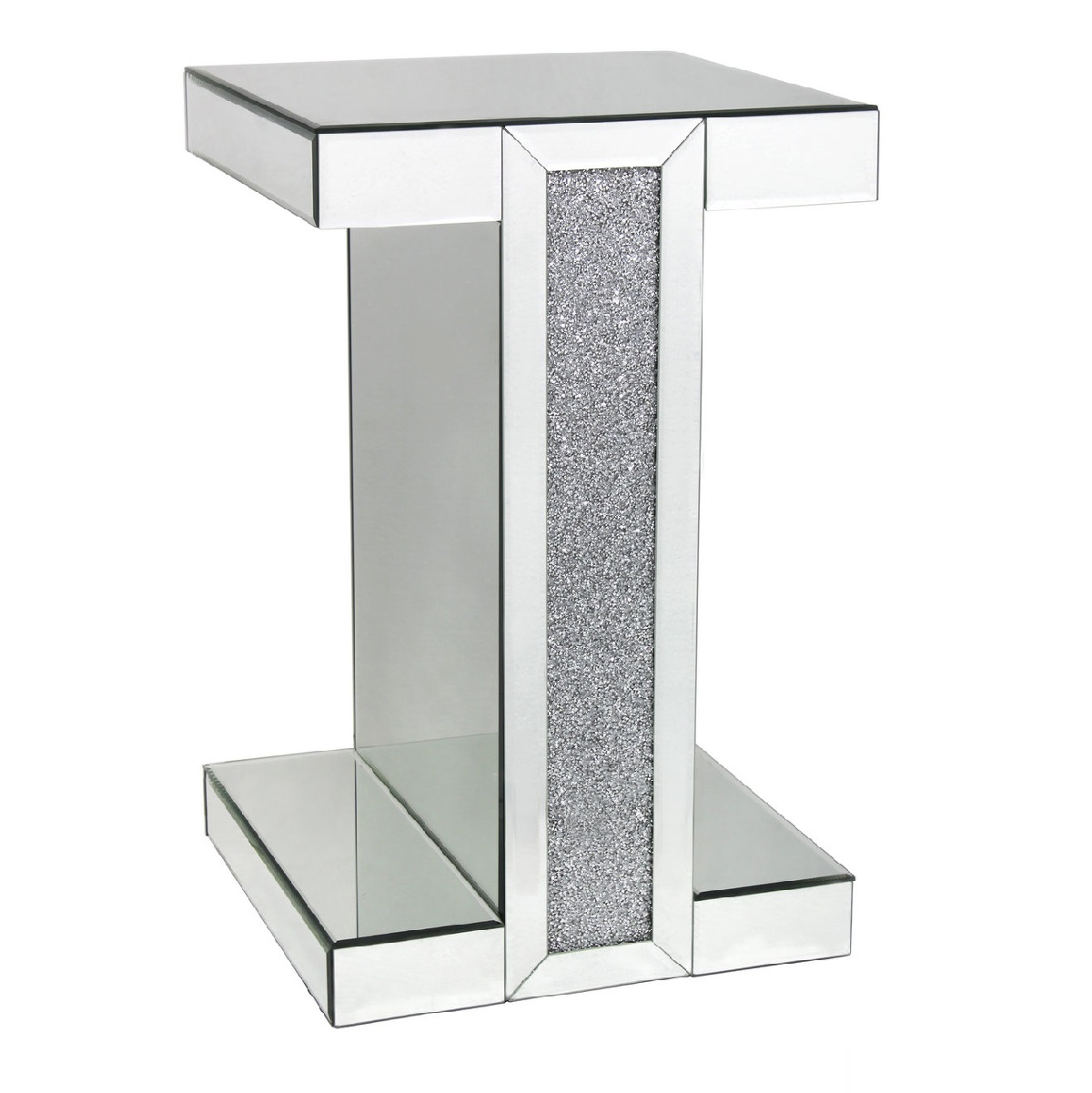 mirrored side table. Tuscany-mirror-end-table-with-swarovski-crystals Mirrored Side Table