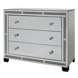 Tuscany Mirrored 3 Drawer Cabinet with Swarovski Crystals