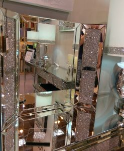 Tuscany Dressing Table Vanity Mirror Filled With Swarovski Crystals