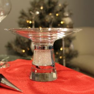 Crystal Centrepiece Bowl Filled with Swarovski Crystals Elements