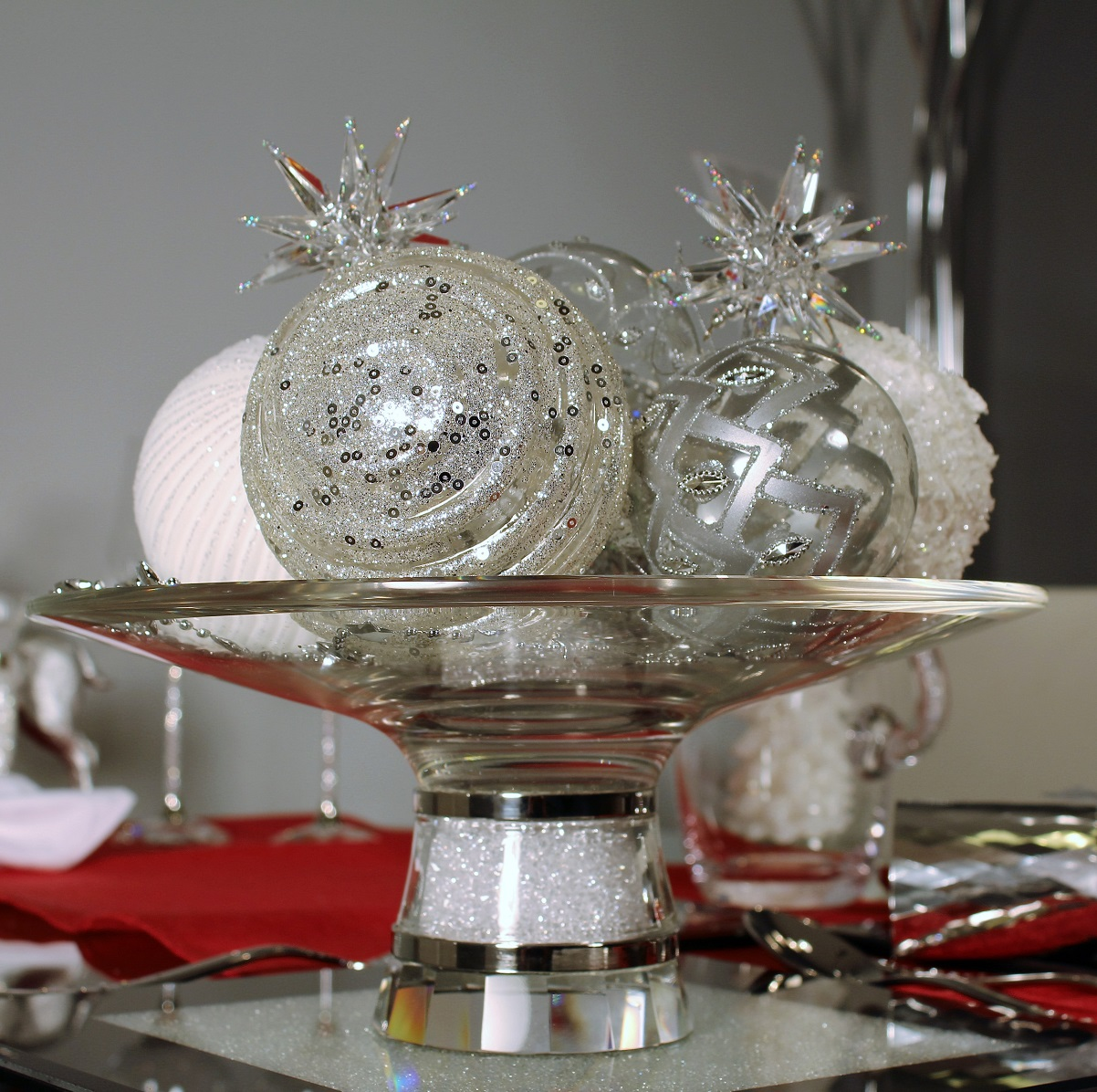 Large Swarovski Crystal Filled Centrepiece Bowl Dish