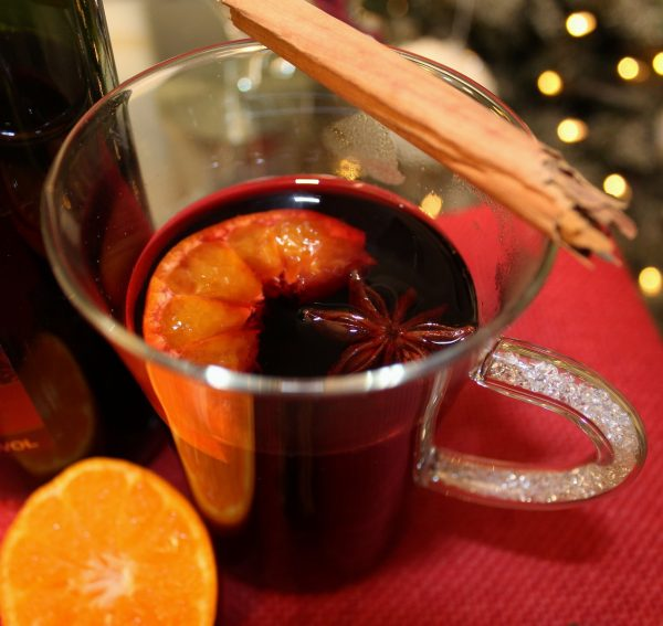 Mulled Wine Glass with Swarovski Crystal filled Handle
