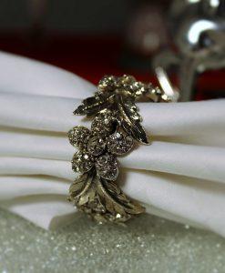 Set Of Napkin Rings With Swarovski Crystal Elements