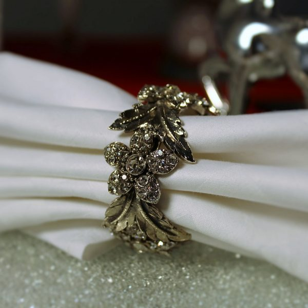 Set Of Napkin Rings With Swarovski Crystal Elements