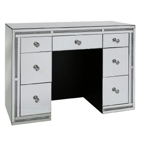 Tuscany Mirrored 7 Drawer Dressing Table with Swarovski Crystals