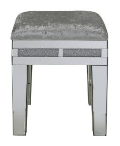 Tuscany Mirrored Stool with Swarovski Crystals