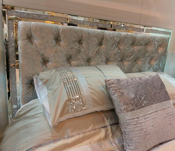 Tuscany Bed with Swarovski Crystals Headboard