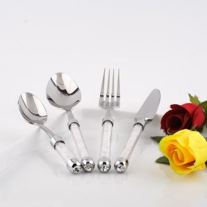 Cutlery Set with Swaovski Crystal Filled Handles