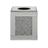 Tuscany Mirrored Tissue Box with Swaroski Crystals Cube2