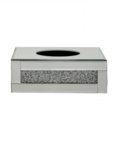 Tuscany Mirrored Tissue Box with Swaroski Crystals