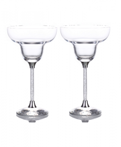 Swarovski Crystal Filled Stem Margarita Glasses