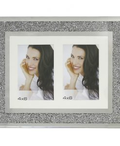 Twin Aperture Swarovski Crystal Filled Photo Frame