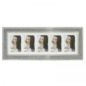 "Multi Aperture Swarovski Crystal Filled Photo Frame Holds 5 6x4"" Photos"