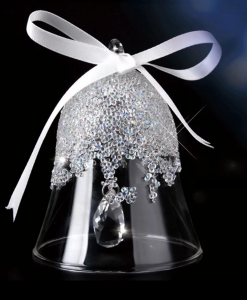 Crystal Glass Bell Hanging Decoration with Swarovski Crystals