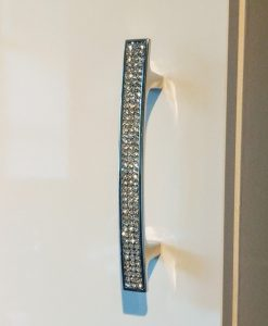 Chrome Cupboard Door Furniture Handle with Swarovski Crystals 96/128/160mm