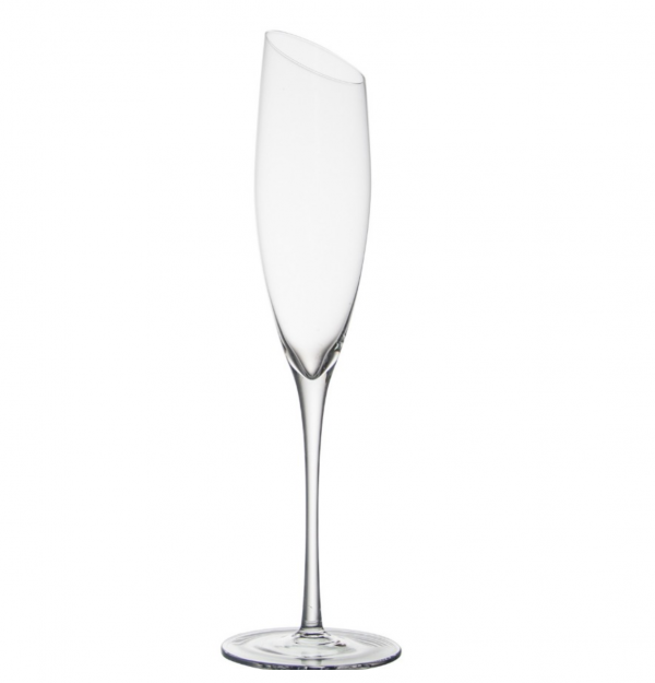 Pair of Angled Rim Champagne Flutes