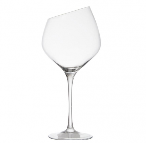 Pair of Angled Rim Wine Glasses
