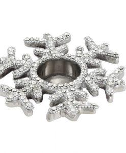 Christmas Snowflake Tealight Candle Holder with Swarovski Crystals