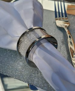 Set Of Napkin Rings Filled With Swarovski Crystal Elements