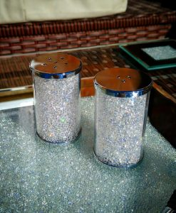 Salt & Pepper Shaker Set with Swarovski Crystals