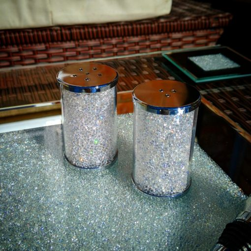Salt & Pepper Shaker Set with Swarovski Crystals