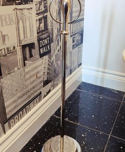 Freestanding Toilet Roll Holder with Swarovski Crystals