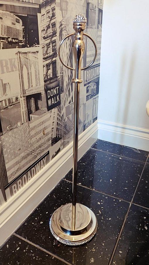 Freestanding Toilet Roll Holder with Swarovski Crystals