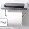 Wall Mounted Chrome Toilet Roll Holder with Swarovski Crystals