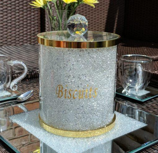 Gold Swarovski Biscuit Barrel