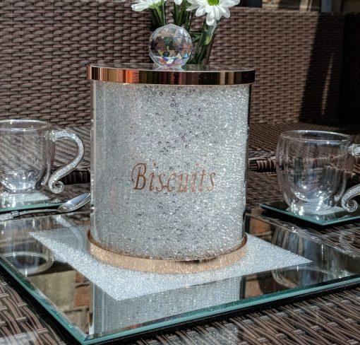 Rose Gold Swarovski Biscuit Barrel