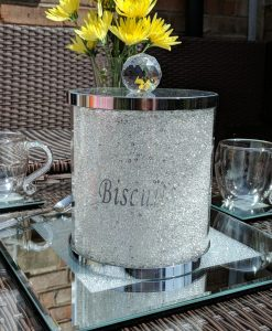 Swarovski Crystal Filled Biscuit Barrel Cookie Storage Jar