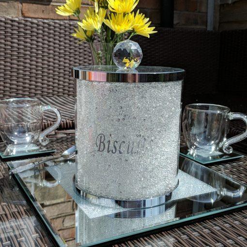 Swarovski Crystal Filled Biscuit Barrel Cookie Storage Jar