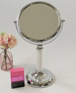Freestanding Cosmetic Dressing Table Mirror Filled with Swarovski Crystal