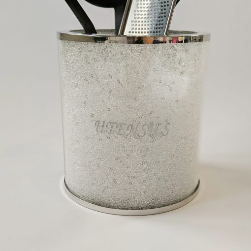 Swarovski Crystal Filled Utensils Storage Jar by Diamond Affair
