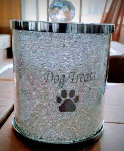 Dog Treats Jar with Swarovski Crystals